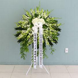 품격있는 조문용 오브제 고급화환 - 삼가 조의를 표합니다 꽃배달하시려면 이미지를 클릭해주세요