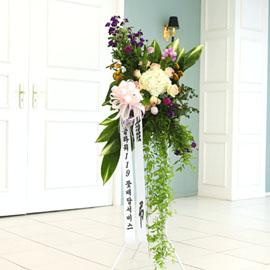 품격있는 조문용 오브제 고급화환 - 삼가 고인의 명복을 빕니다 꽃배달하시려면 이미지를 클릭해주세요