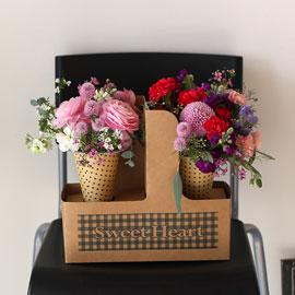 Fresh spring flower 아메리카노와 카푸치노 꽃배달하시려면 이미지를 클릭해주세요