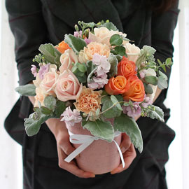 Gray pinky pastel orange 꽃배달하시려면 이미지를 클릭해주세요