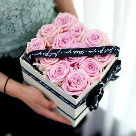 Spring loves Simple pink roses 꽃배달하시려면 이미지를 클릭해주세요