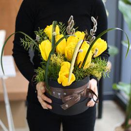 White day - 노란 튜울립 꽃배달하시려면 이미지를 클릭해주세요
