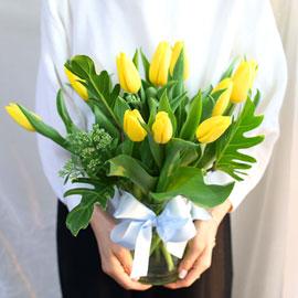 '(必)환경'시대 오아시스없는 플라워화병 - I like the tulip 꽃배달하시려면 이미지를 클릭해주세요
