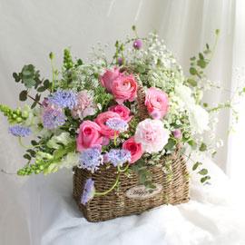봄 꽃바구니 - 찬란한 봄빛 꽃배달하시려면 이미지를 클릭해주세요