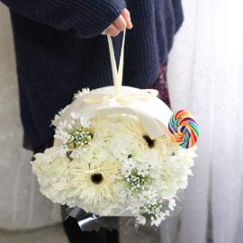 화이트데이 - White sweet flowers 꽃배달하시려면 이미지를 클릭해주세요