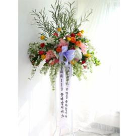 유니크한 결혼식 화환 -신부같이 아름다운 축하화환 꽃배달하시려면 이미지를 클릭해주세요