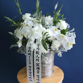 조문용 추도바구니(고급) A -빈소안에 들여놓아집니다 꽃배달하시려면 이미지를 클릭해주세요