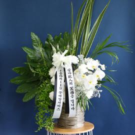 조문용 추도바구니(고급) B -빈소안에 들여놓아집니다 꽃배달하시려면 이미지를 클릭해주세요