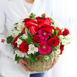 전국배송가능 꽃바구니 - 행복이 꽃피는 집 꽃배달하시려면 이미지를 클릭해주세요