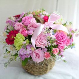 전국배송가능 꽃바구니 - 사랑이 꽃피는 집 꽃배달하시려면 이미지를 클릭해주세요
