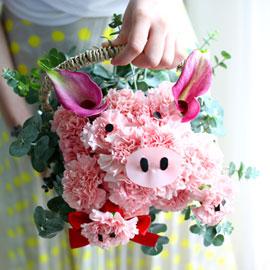 웃으면 복이와요 - 꿀꿀꿀 복돼지 꽃배달하시려면 이미지를 클릭해주세요