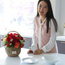 전국으로 꽃 보내세요 - 귀여운 꽃바구니(빨강) 꽃배달하시려면 이미지를 클릭해주세요