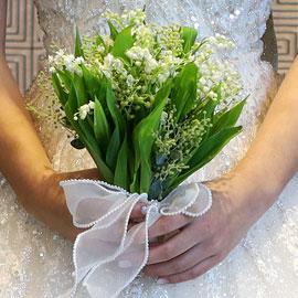 Wedding bouquet - 은방울 꽃 부케 꽃배달하시려면 이미지를 클릭해주세요