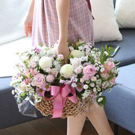 전국으로 꽃 보내세요 - 풍성하면서 화려한 꽃바구니 - lovely 꽃배달하시려면 이미지를 클릭해주세요