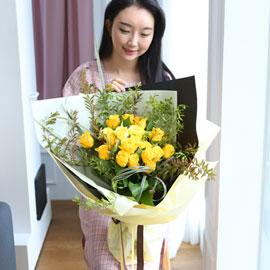 전국으로 꽃 보내세요 -장미꽃다발 Roses are yellow 꽃배달하시려면 이미지를 클릭해주세요