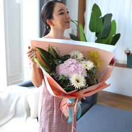수국다발은 언제나 인기가 많아 - 러블리핑크수국 꽃배달하시려면 이미지를 클릭해주세요