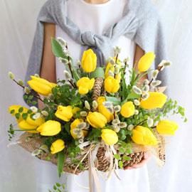 [서울 수도권배송]Spring & sweet Tulips 꽃배달하시려면 이미지를 클릭해주세요