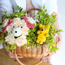 [서울,수도권배송] Lovely & sweet 더그와 제리 꽃배달하시려면 이미지를 클릭해주세요
