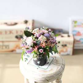 pink angel - 기분 좋은 핑크빛 센터피스 꽃배달하시려면 이미지를 클릭해주세요