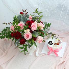 크리스마스케익과 함께(감사의 마음으로) 꽃배달하시려면 이미지를 클릭해주세요
