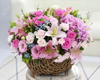 풍성하고 예쁜 꽃바구니크기도 만족, 풍성함도 만족