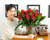 Burgandy red정열적인 빨간 장미로 당신의 뜨거운 사랑을 보여주세요
