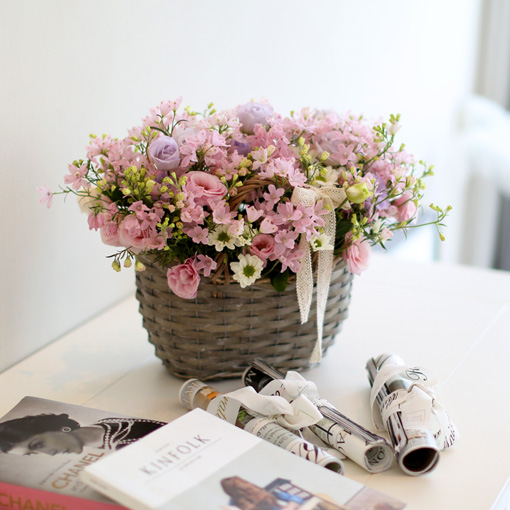 축복을 보내주세요.엄마와 아기에게 건강함을 담은 꽃바구니