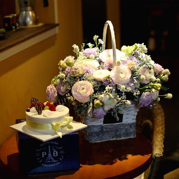 플라워 + 케익 set당신의 생일을 진심으로 축하합니다