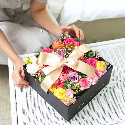 프로포즈 꽃, 선물 선물박스 어떤가요?사랑을 고백할때 플라워박스와 편지는 제격이죠
