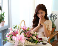행복한 하루 되세요꽃으로 행복한 하루가 되길 바래요