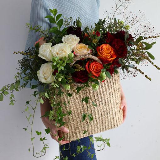 고급스러운 꽃바구니축하용 꽃바구니로 딱 좋아요