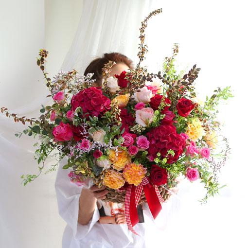 대형 꽃바구니소개합니다오늘 하루는 행복한 선물입니다