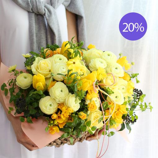 봄 내음 가득 담긴 꽃내음노란 후리지아 향기에 실어 봄을 선물하세요