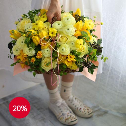 봄 내음 가득 담긴 꽃 내음후리지아 향기로 봄을 선물하세요