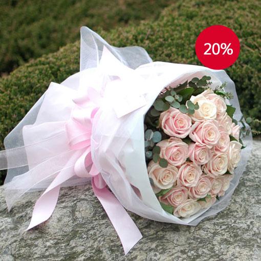 핑크 장미 꽃다발심플하고 우아한 장미 꽃다발