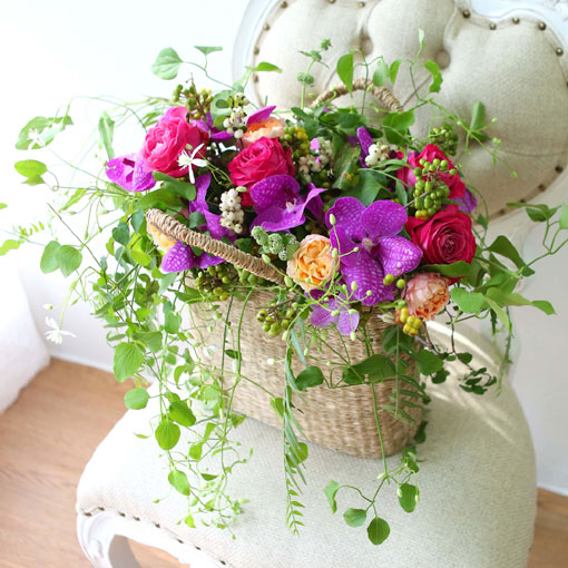 축제의 계절 가을이다싱그러움과 감성을 더한 꽃바구니