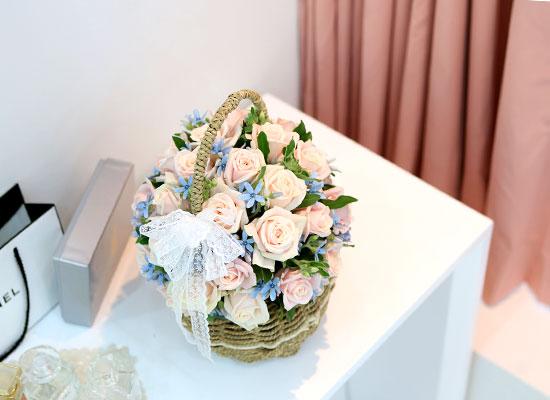 장미의 맹세 - pink cotton candy(봄,겨울엔 블루옥시 대신 다른꽃으로 대체됩니다