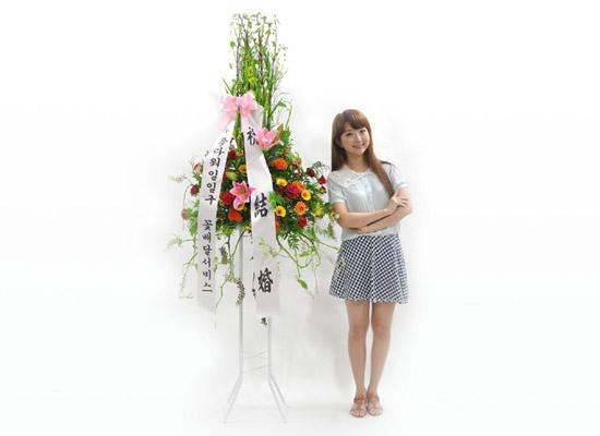 [플라워119 디자인화환] 레드 축하화환