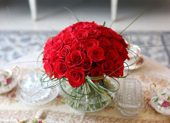 [서울배송] Beautiful colors - Red rose vase