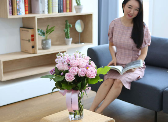 전국으로 꽃 보내세요 -장미와 화병 분홍장미의 비밀